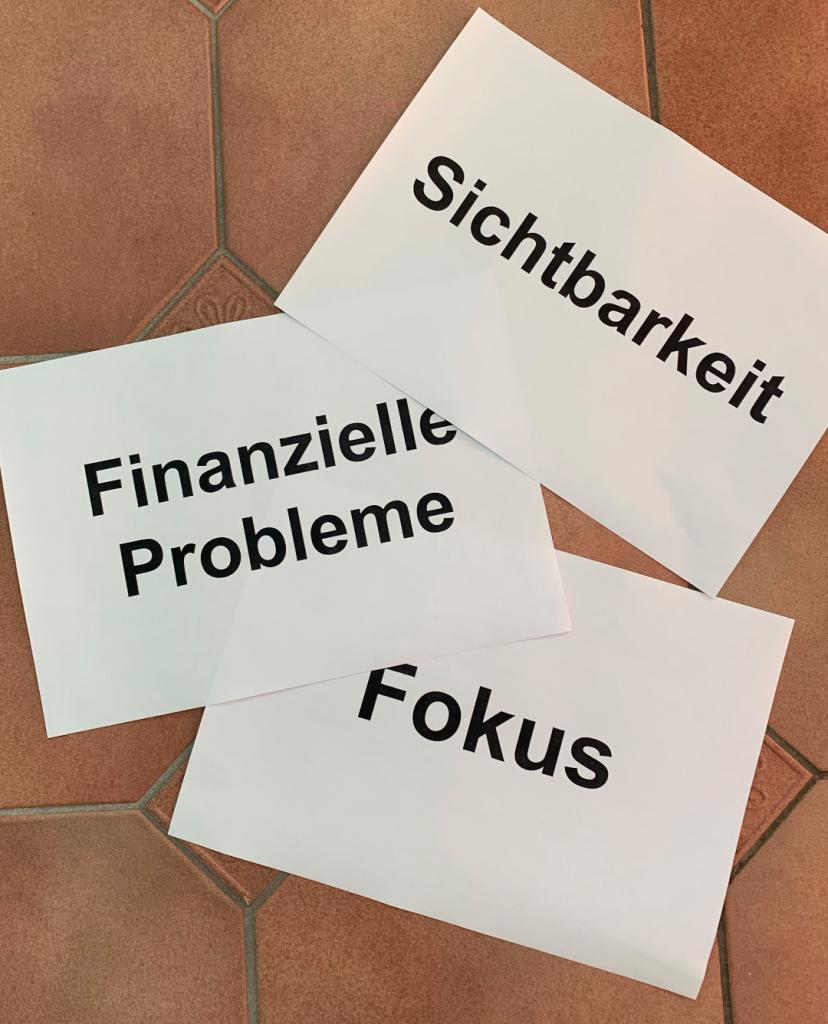 Business-Aufstellung_ Zettel