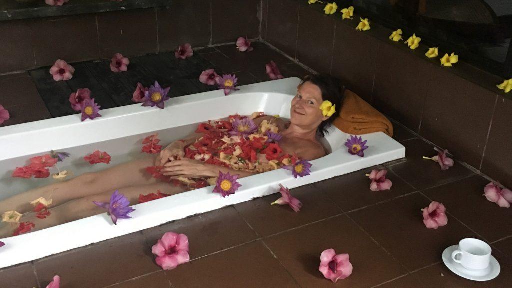 Blütenbad als Belohnung